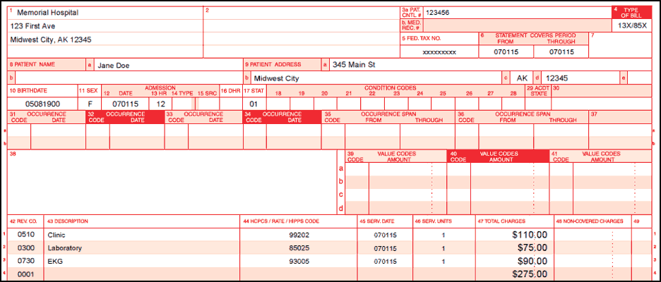 clinic-billing-guide-1 Cms Claim Form Lab Billing Example on sickle cell disease, sample completed, free blank, submitting corrected, workers compensation, example completed,