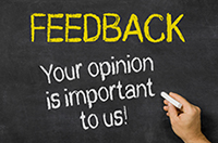 Feedback, your opinion is important to us.