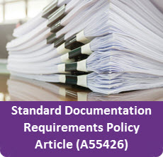 Ad for the Standard Documentation Requirements Policy Article